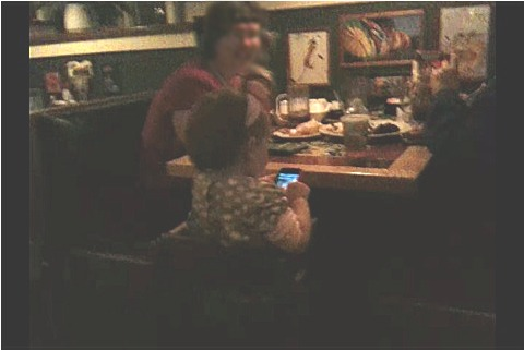 Little Girl In Resturant